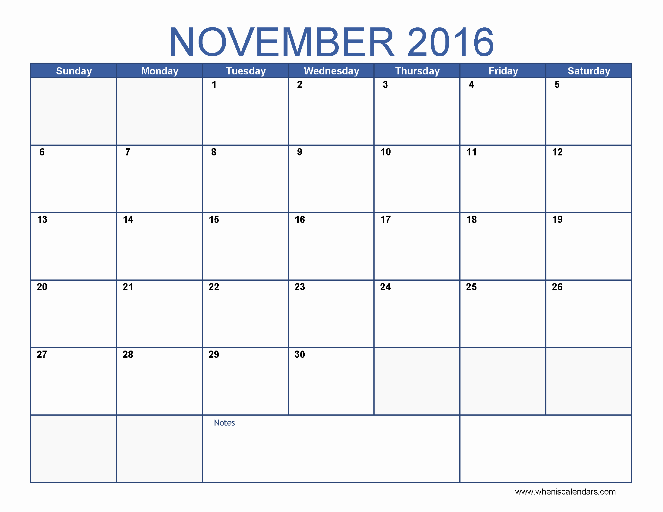 2016 Calendar Excel with Holidays Beautiful November 2016 Calendar Excel – Templates Free Printable