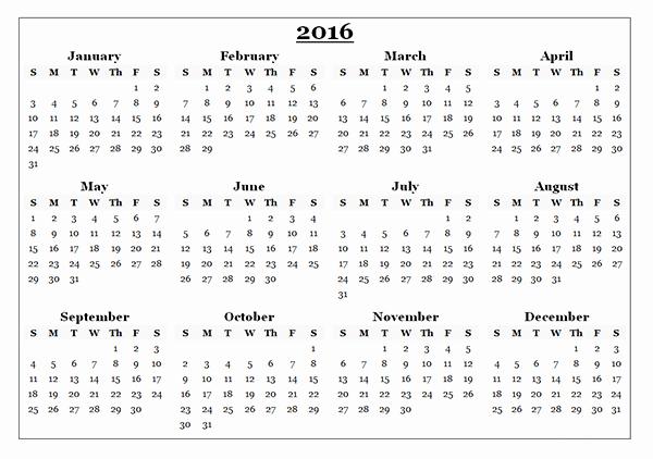 2016 Calendar Excel with Holidays Best Of 2016 Calendar Download