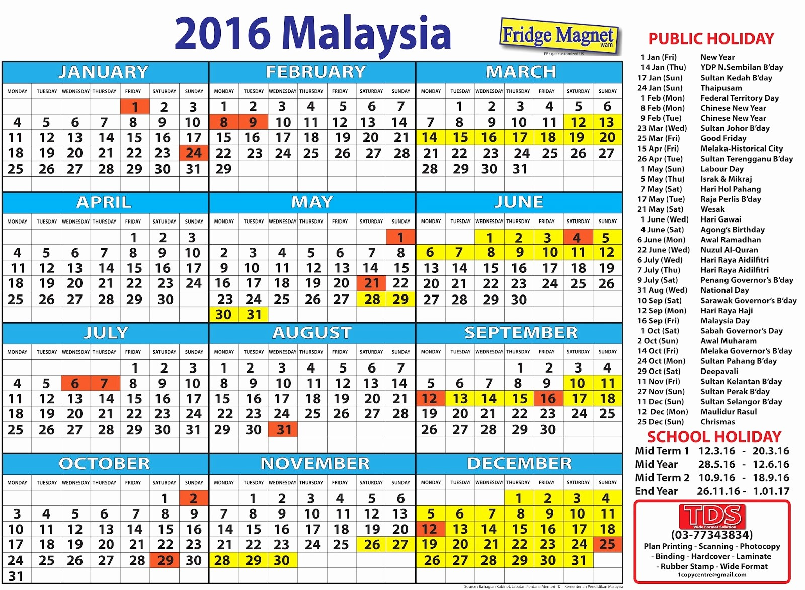 2016 Calendar Excel with Holidays Best Of 2016 Calendar Malaysia Excel Yearly Calendar Printable