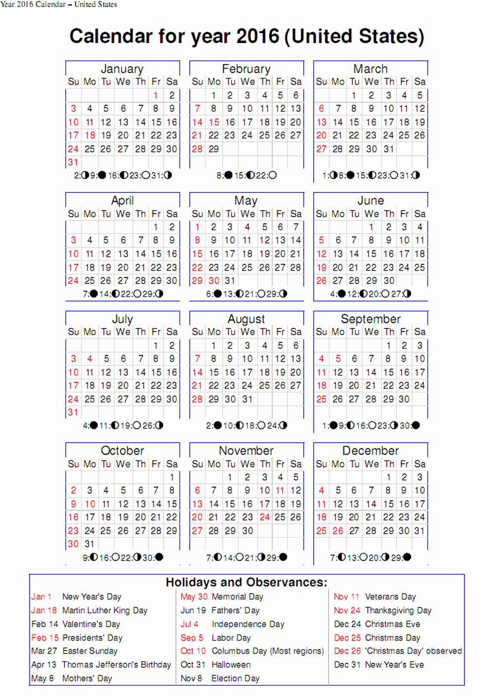 november 2016 calendar excel
