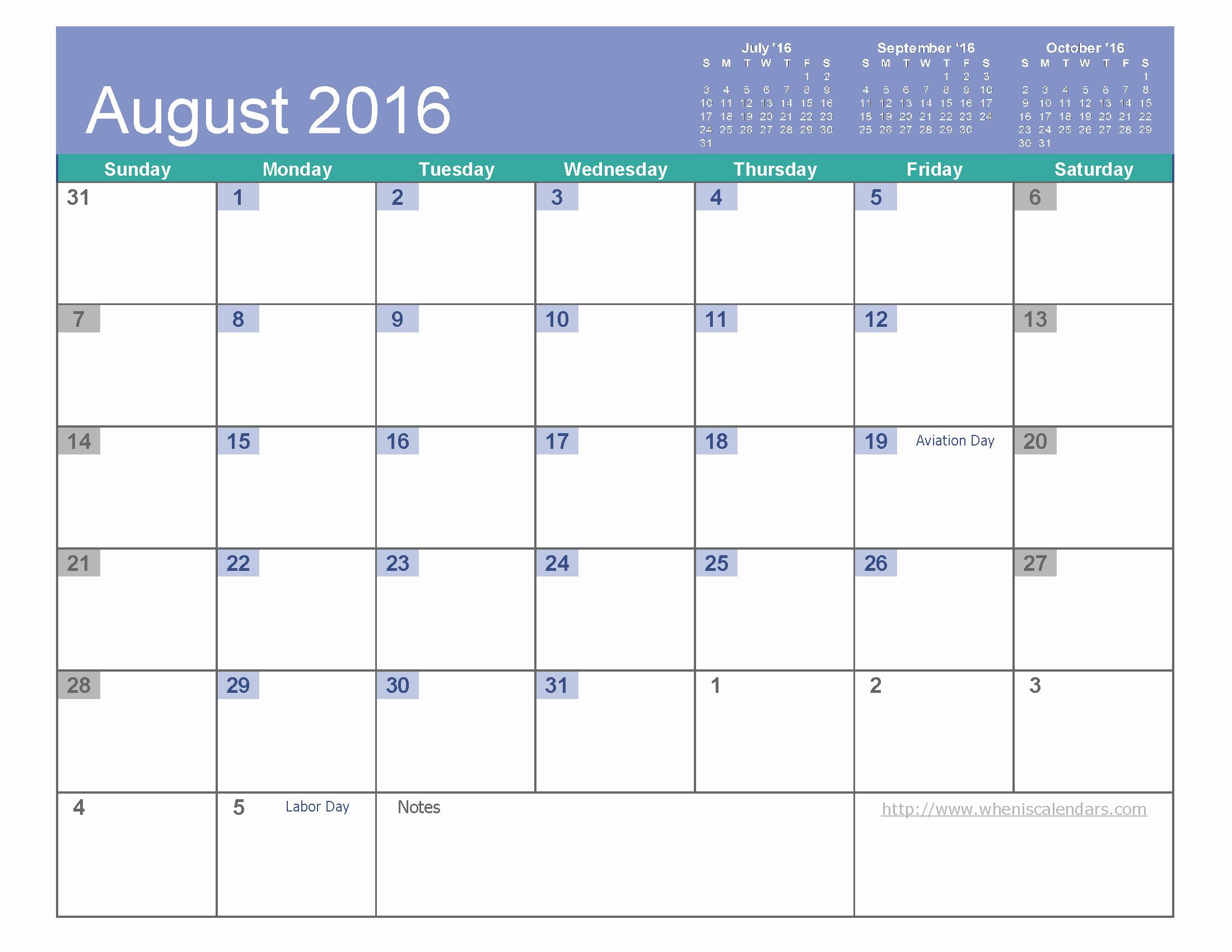 2016 Calendar Excel with Holidays Inspirational August 2016 Calendar Excel August2016 Excelcalendar