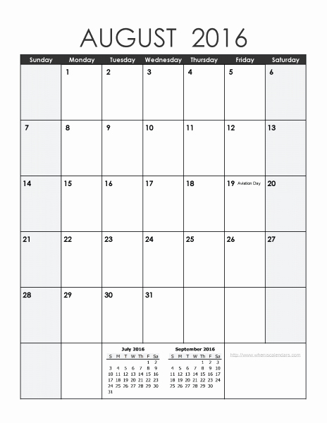 2016 Calendar Excel with Holidays New August 2016 Calendar Excel August2016 Excelcalendar