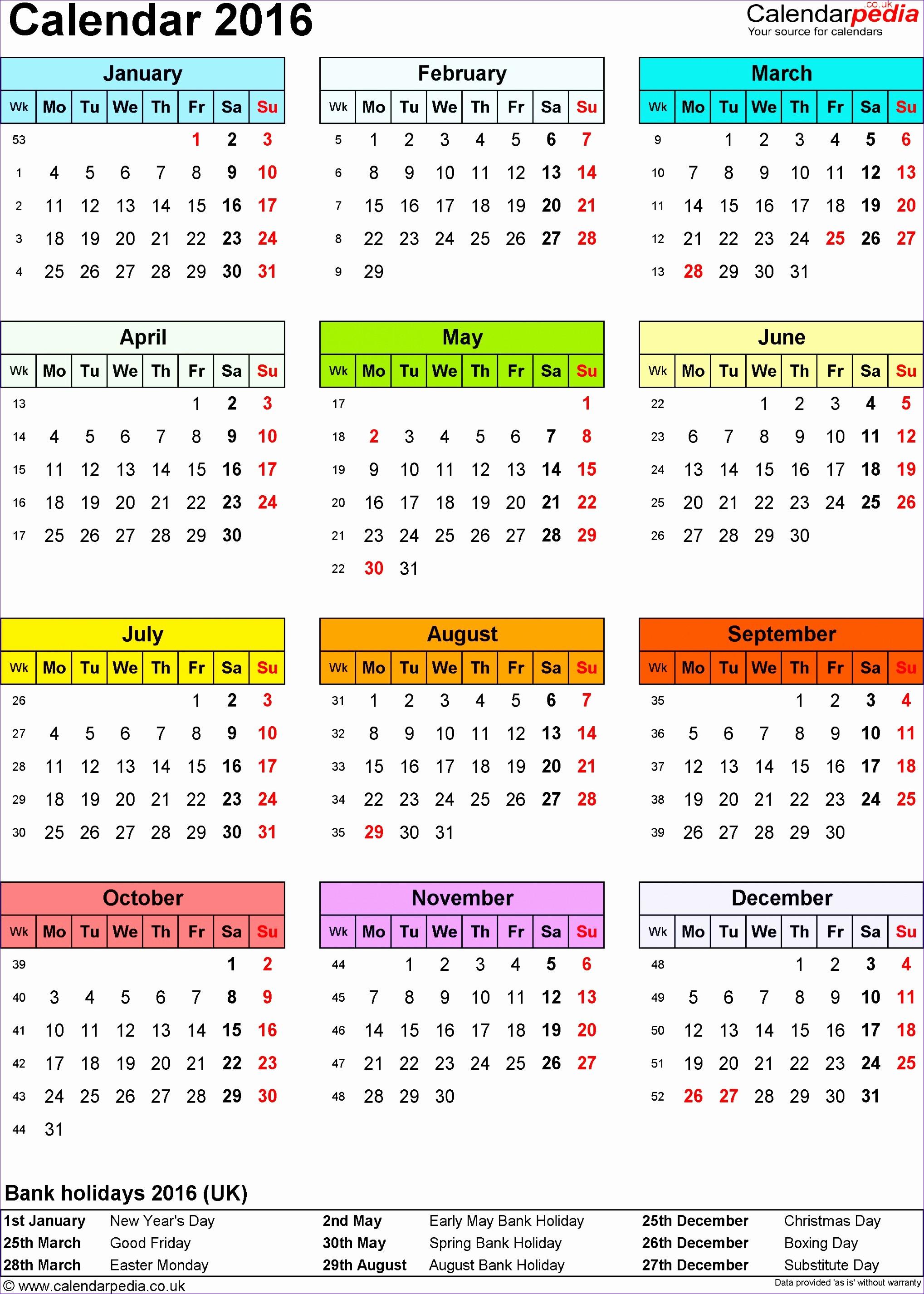 2016 Calendar Excel with Holidays Unique 10 Staff Rota Template Excel Exceltemplates Exceltemplates