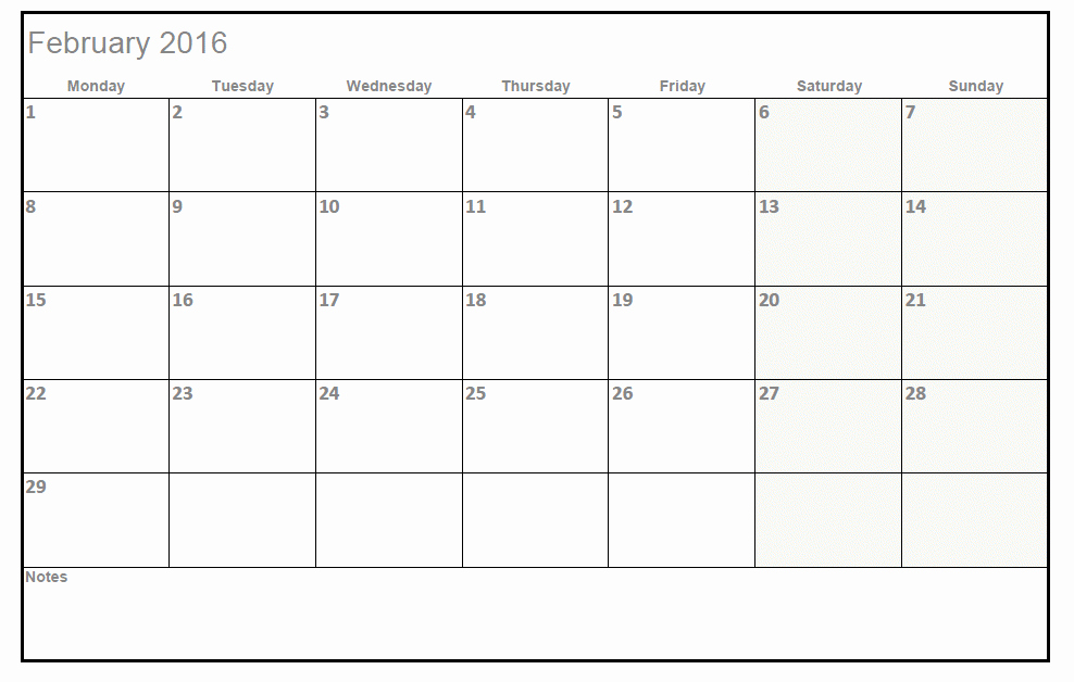 2016 Monthly Calendar Template Excel Best Of 2016 Printable Calendar Templates In Excel