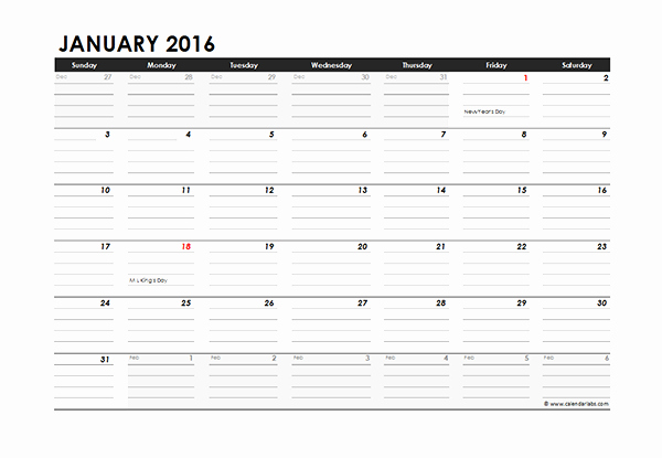 2016 Monthly Calendar Template Excel New 2016 Excel Monthly Calendar 04 Free Printable Templates