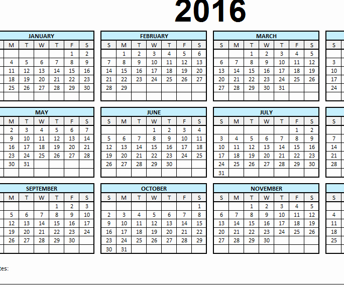 "2016 Monthly Calendar Template Excel New Search Results for ""12 Month Calendar Template"" – Calendar"