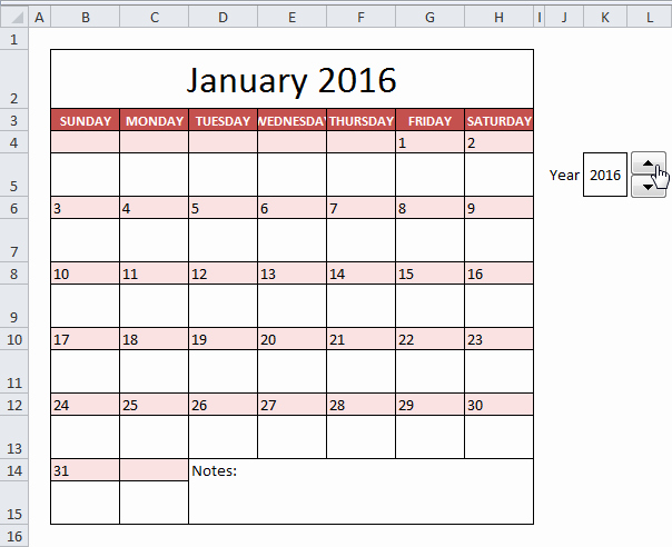 2016 Monthly Calendar Template Excel Unique How to Insert Calendar Excel 2016