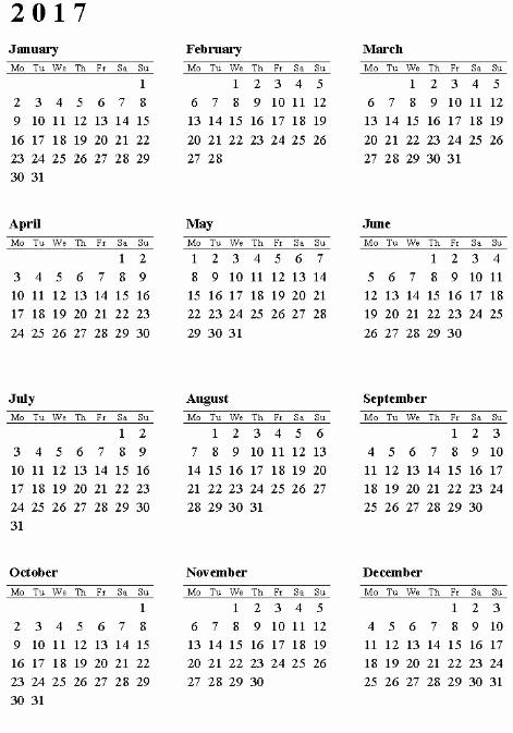 2017 12 Month Calendar Printable Best Of 12 Month 2017 Calendar to Pin On Pinterest