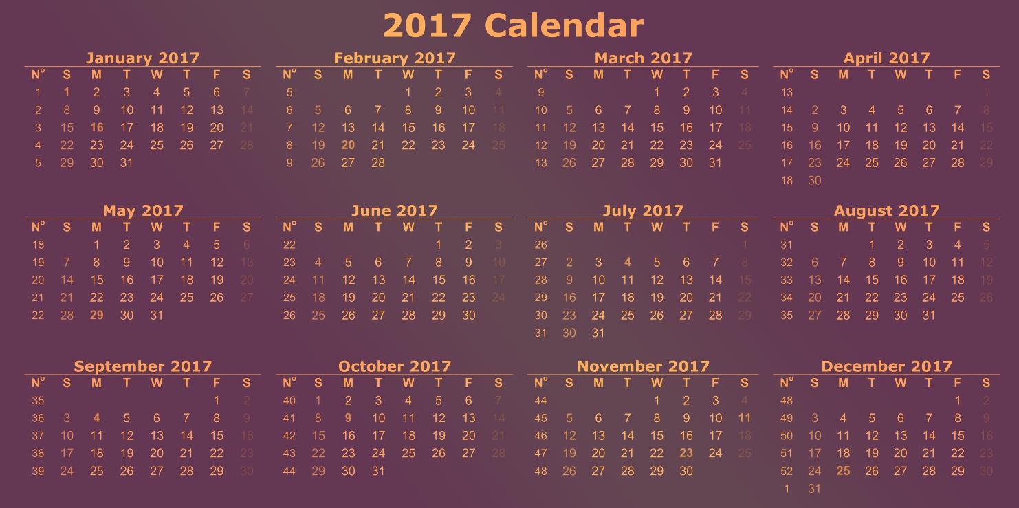 2017 12 Month Calendar Printable Best Of Calendar 2017