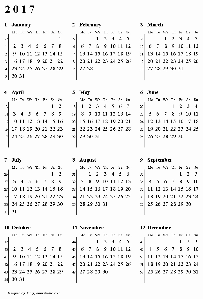 2017 12 Month Calendar Printable Fresh 12 Month Calendar 2017 Printable Daily Quotes