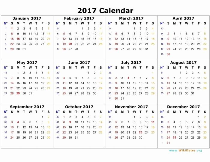 2017 12 Month Calendar Printable Fresh 12 Month Calendar Template 2017