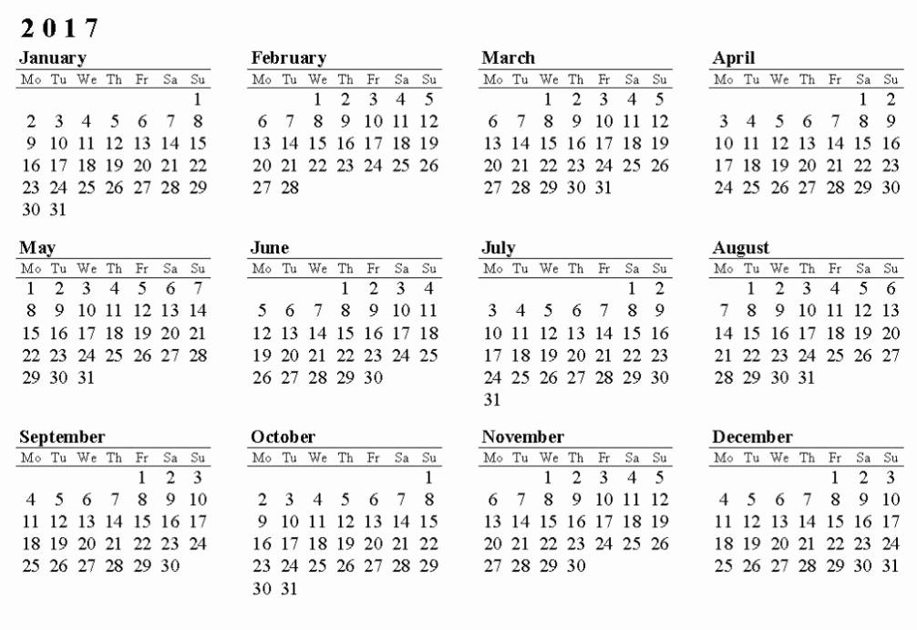 2017 12 Month Calendar Printable Lovely 12 Month Calendar Template Word Printable 12 Month