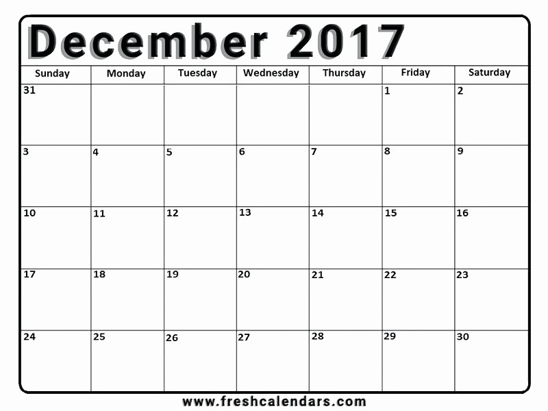 2017 12 Month Calendar Printable Lovely Microsoft Word 2017 Monthly Calendar Template Yearly