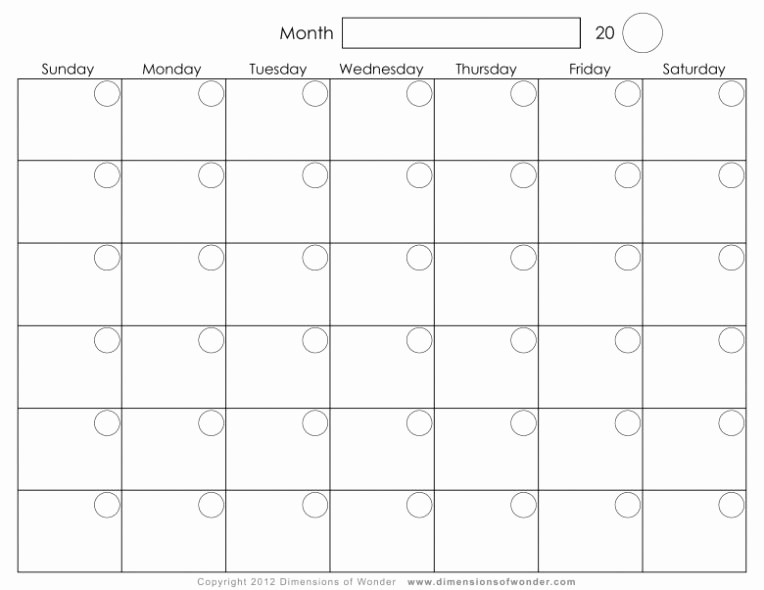 2017 12 Month Calendar Printable Luxury Blank 12 Month Calendar Printable 2018