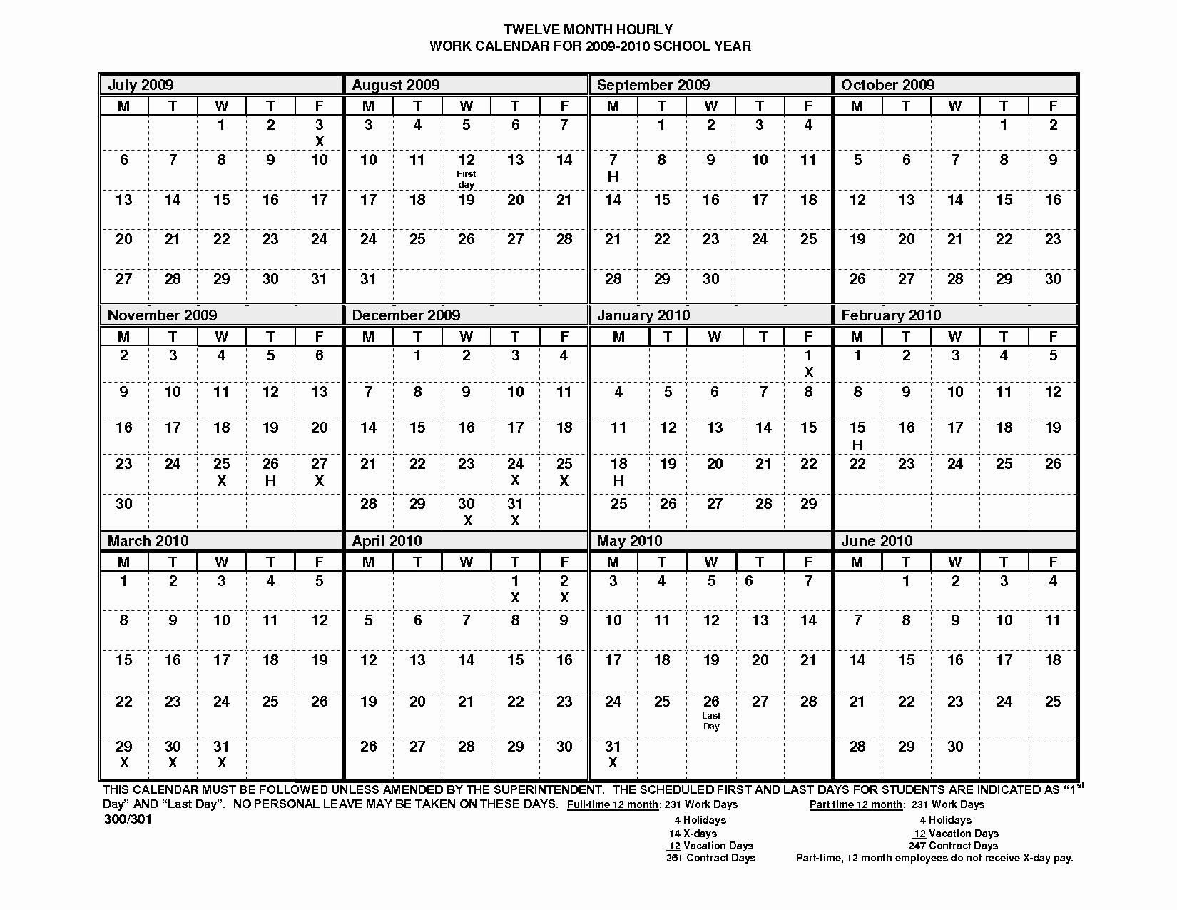 2017 12 Month Calendar Printable Unique 12 Month Calendar Template – 2017 Printable Calendar