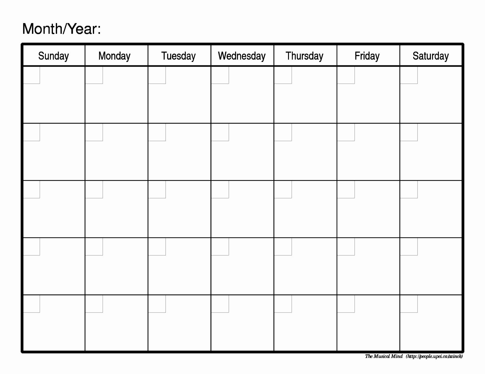 2017-18 Blank Calendar Elegant Blank Monthly Calendar 2017 18