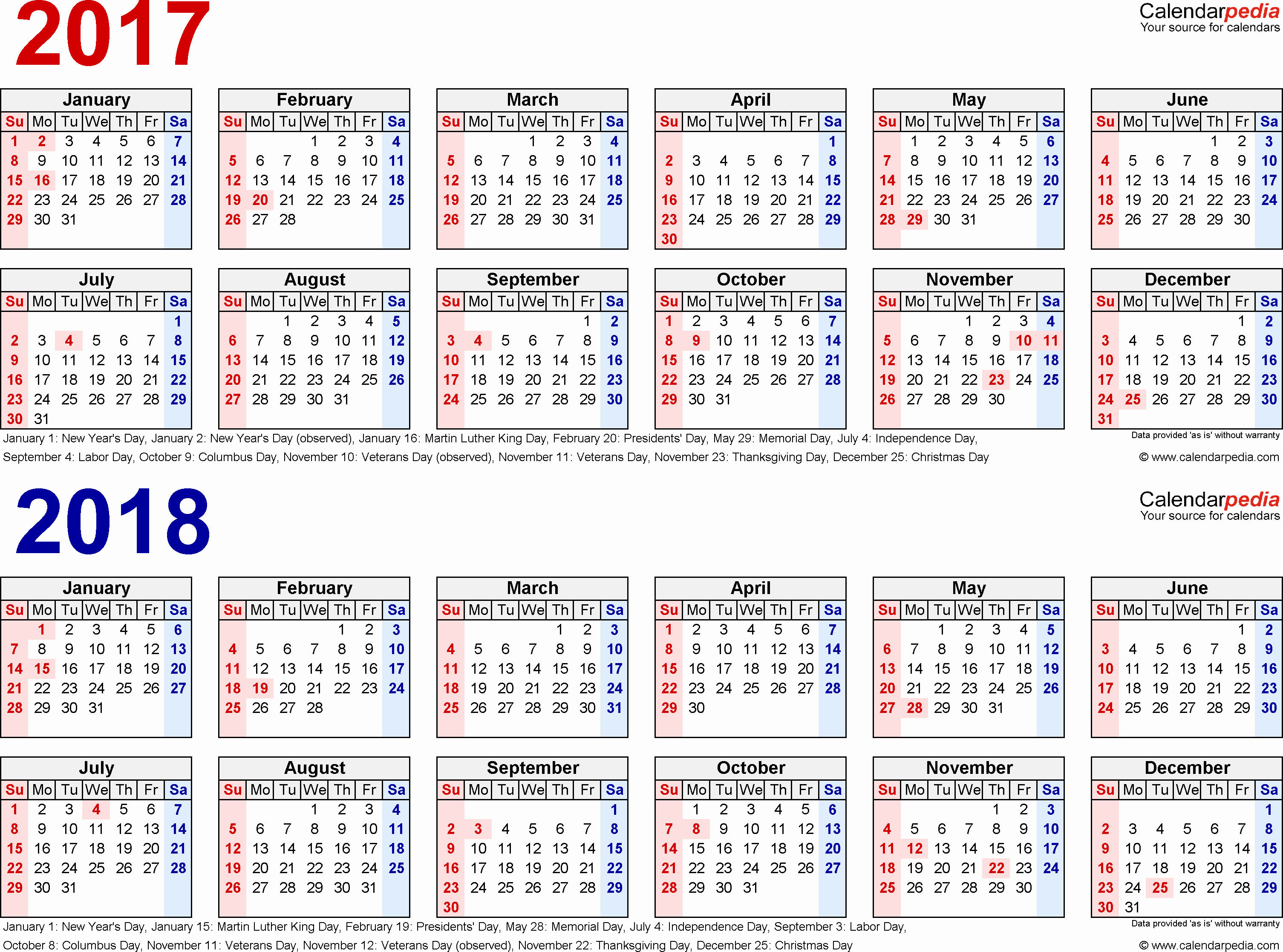 2017-18 Blank Calendar Fresh 2017 2018 Calendar Free Printable Two Year Word Calendars