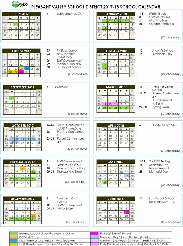 2017-18 Blank Calendar Inspirational 2018 Calendar Ca