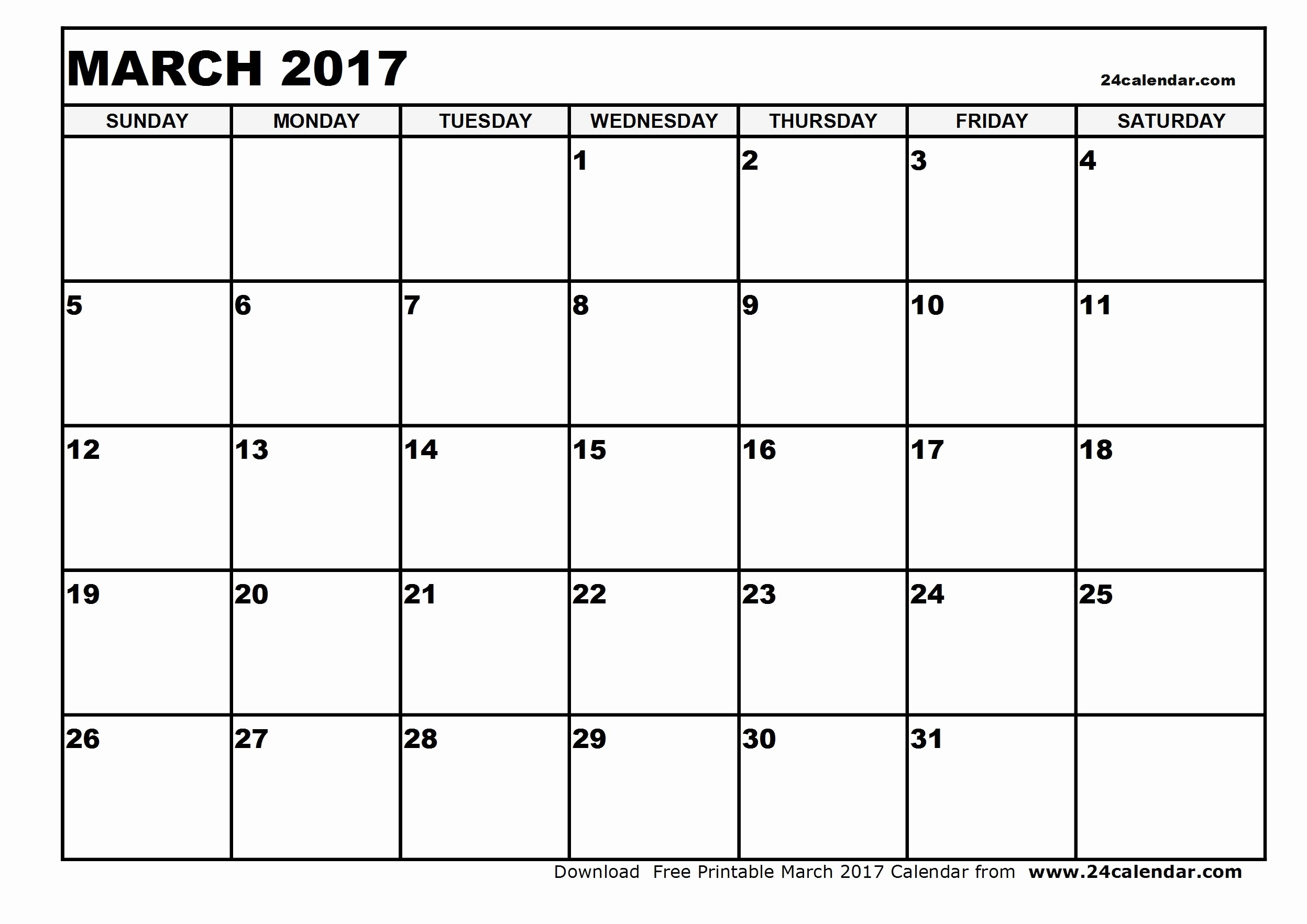 2017-18 Blank Calendar Lovely Blank March 2017 Calendar