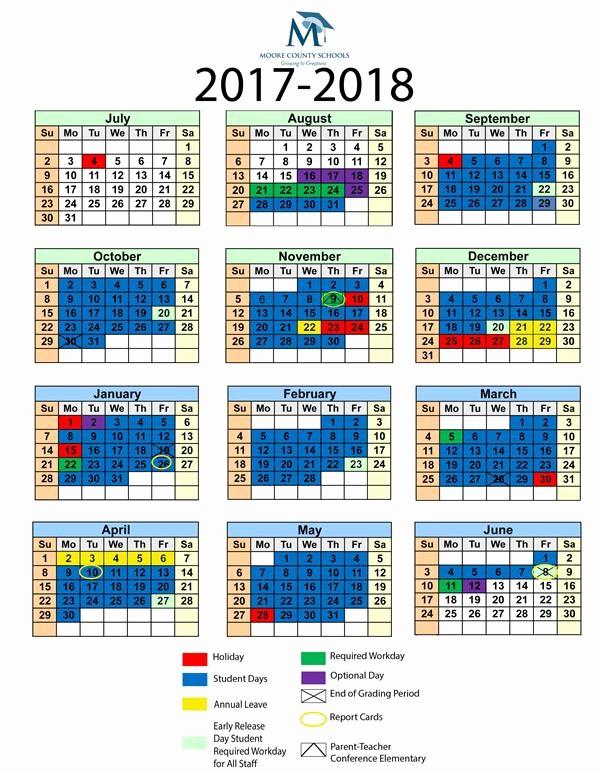 2017-18 Blank Calendar Lovely Munications School Calendars