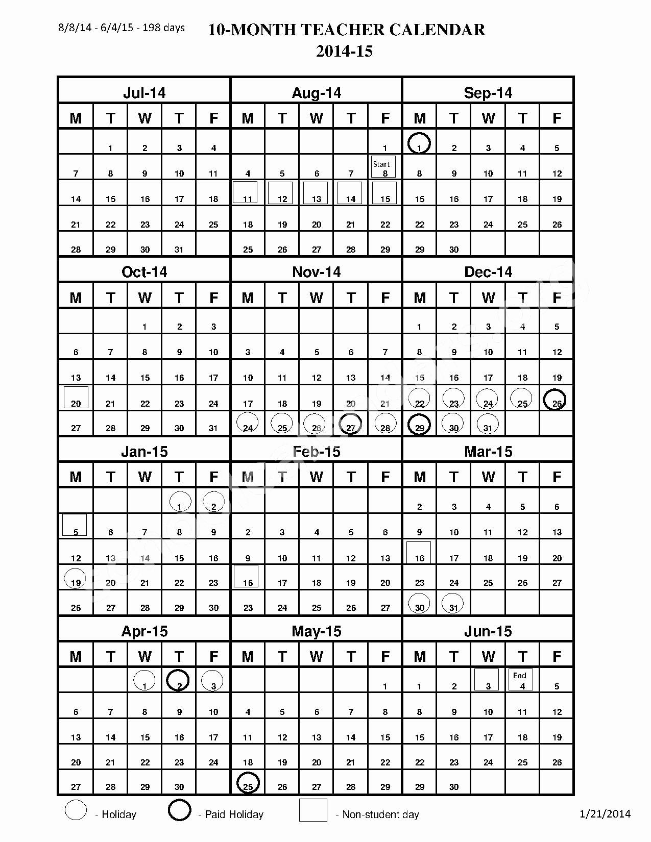 2017-18 Blank Calendar Luxury Pinellas County School Calendar