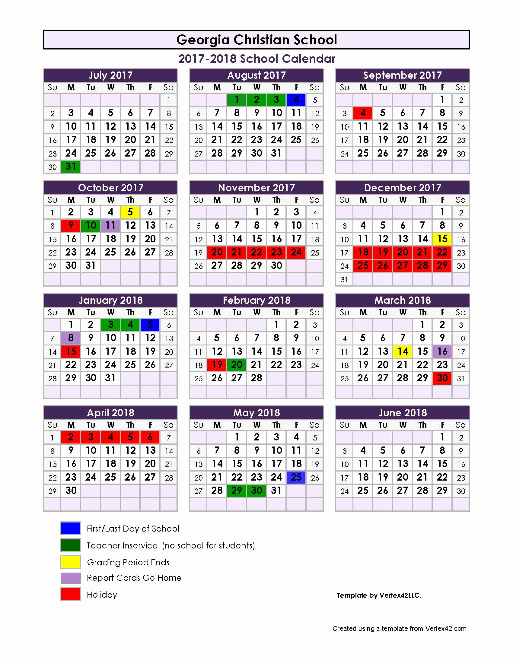 2017-18 Blank Calendar New Printable Calendar 2017 18 School Year