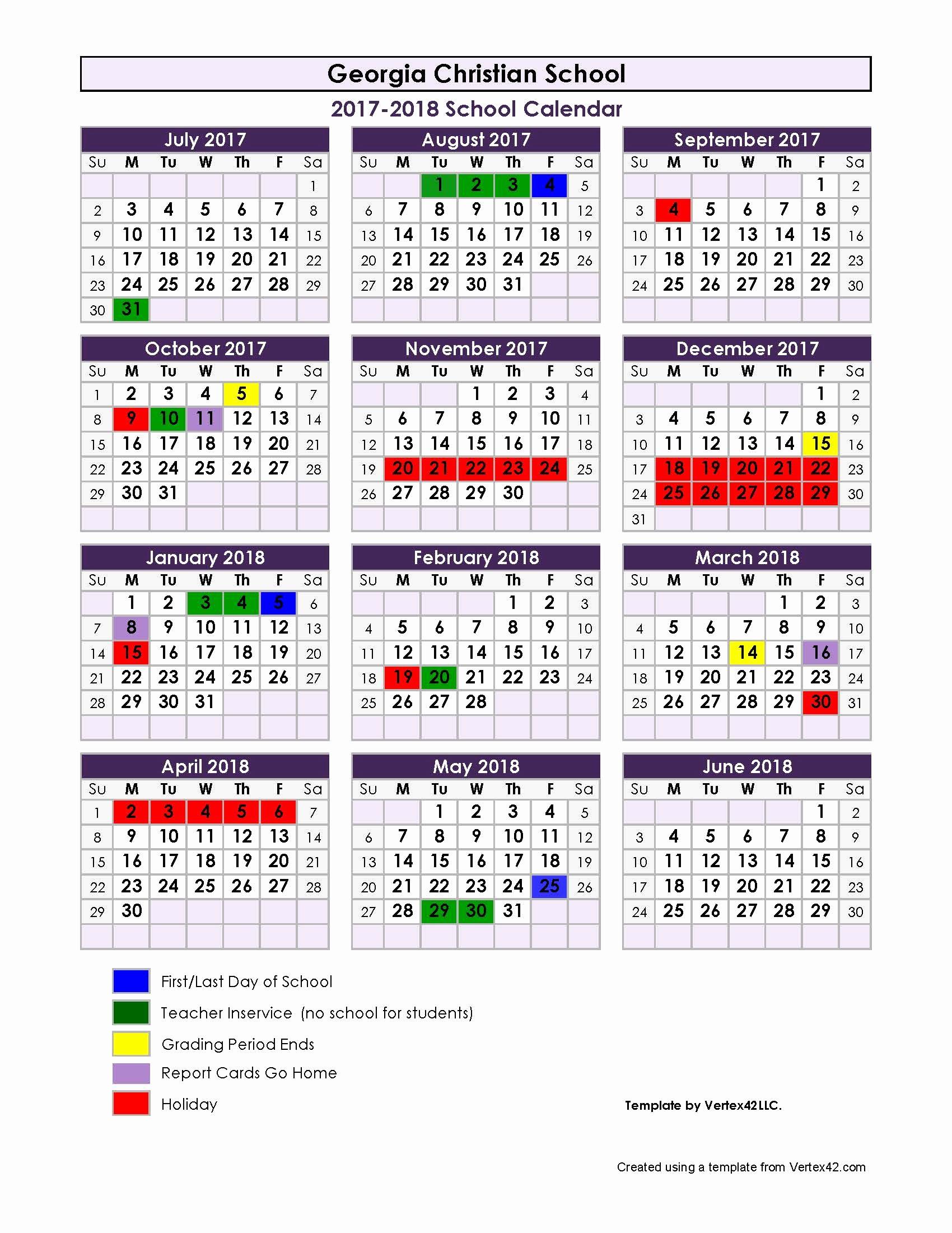 2017-18 Blank Calendar New Printable Calendar 2017 18 School Year