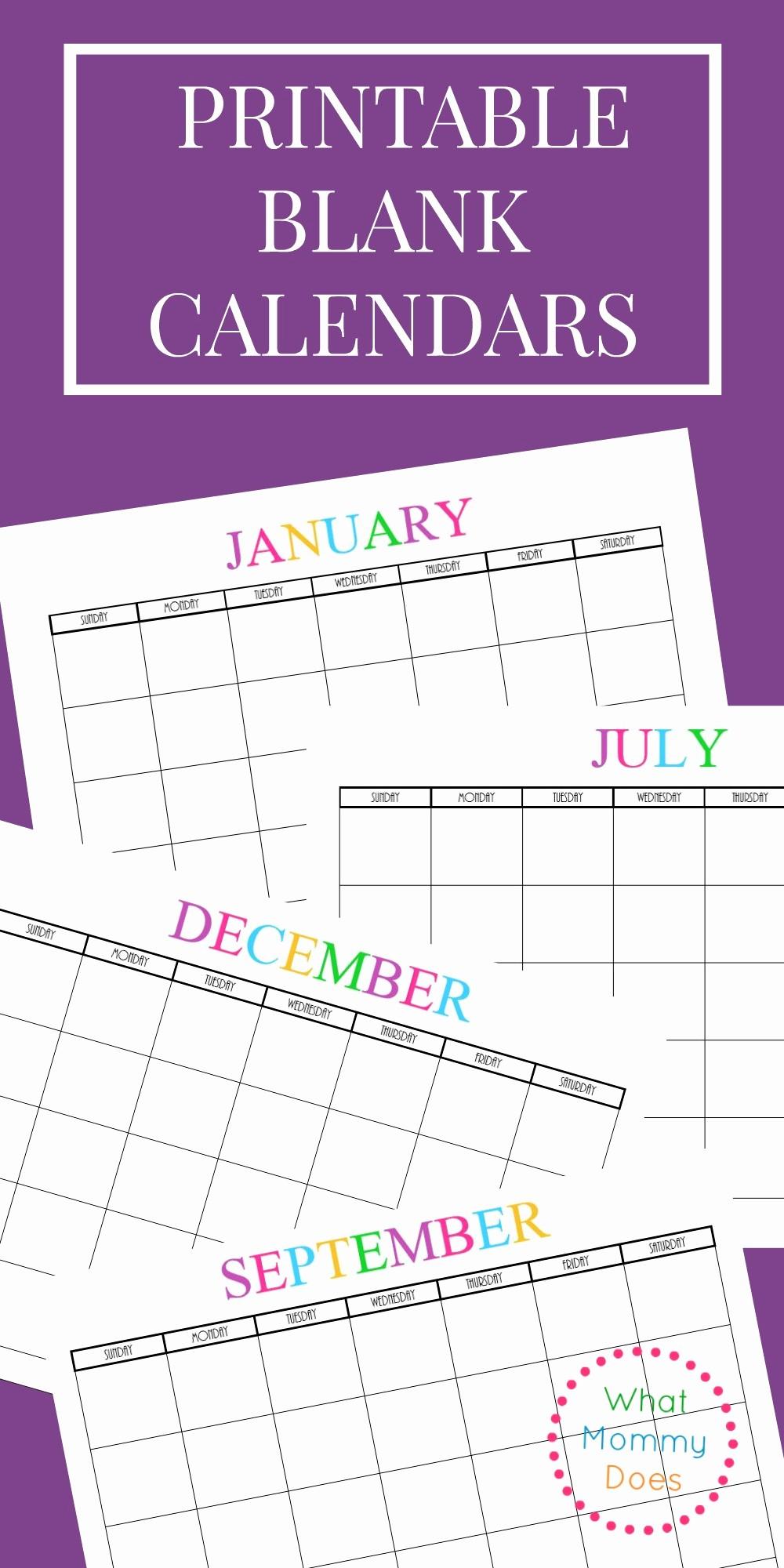 2017-2018 Blank Calendar Beautiful Free Printable Blank Monthly Calendars 2017 2018 2019