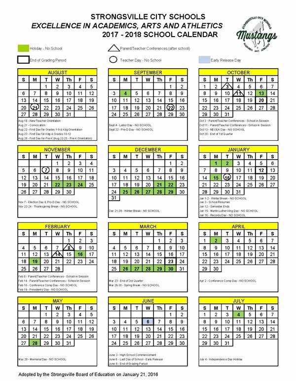 2017-2018 Blank Calendar Best Of Academic Calendars Calendar 2017 2018