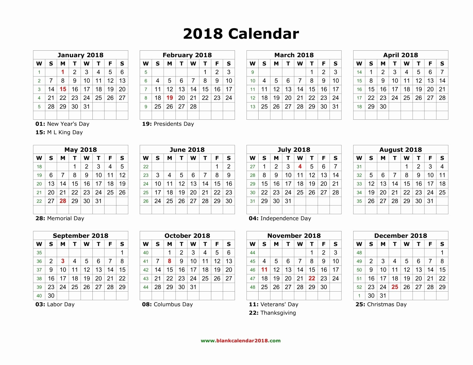 2017-2018 Blank Calendar Lovely 2018 Calendar