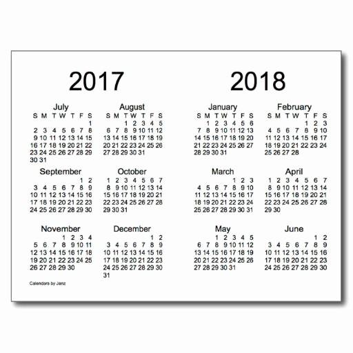 2017-2018 Blank Calendar New 7 Best Of Yearly Calendar Printable 2016 2017 2018