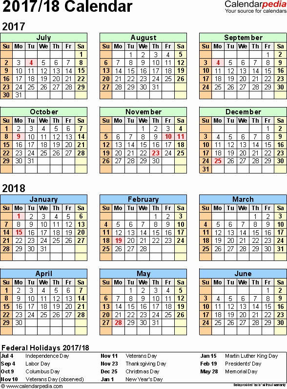 2017-2018 Blank Calendar New 9 Best Of Word Year Calendar 2018 Printable 2018