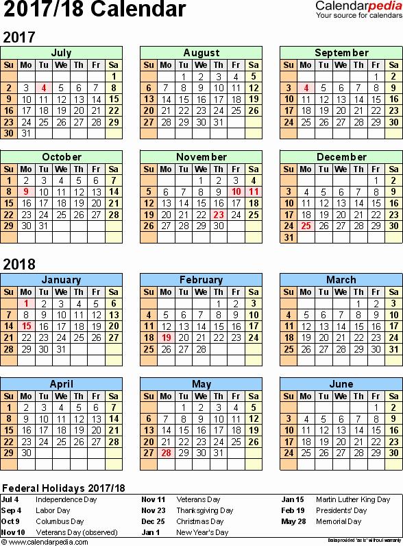 2017-2018 Blank Calendar New 9 Best Of Word Year Calendar 2018 Printable 2018