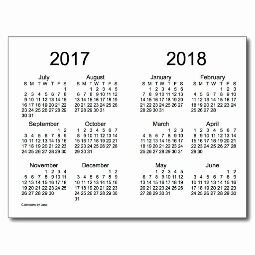 2017-2018 Printable Calendar Awesome 7 Best Of Yearly Calendar Printable 2016 2017 2018