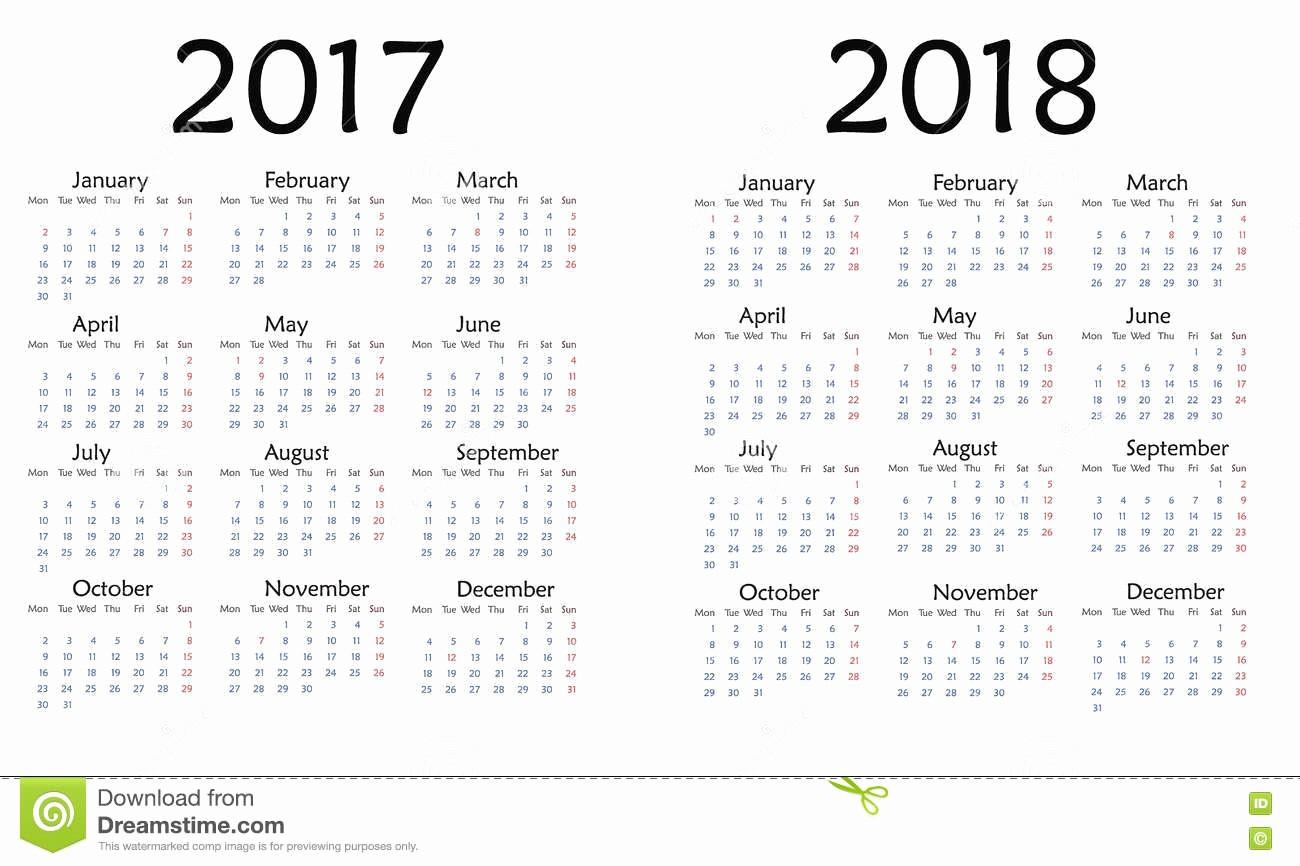 2017-2018 Printable Calendar Elegant Calendar for December 2018 Date – Printable Calendar 2018 2019