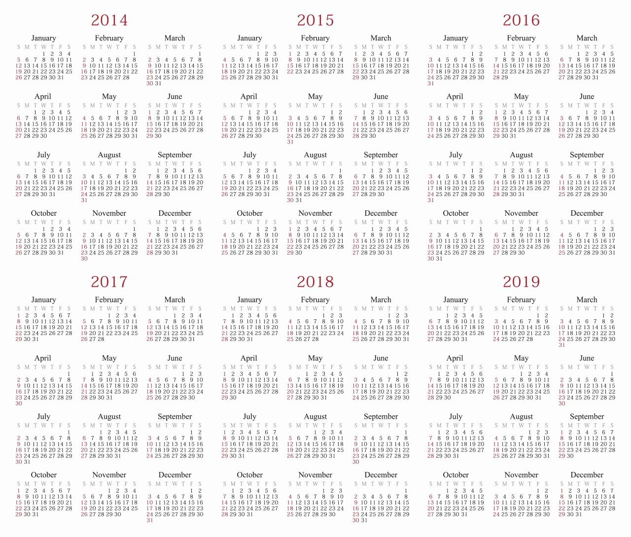2017-2018 Printable Calendar Fresh 7 Best Of Printable Yearly Calendar 2015 2016 2017