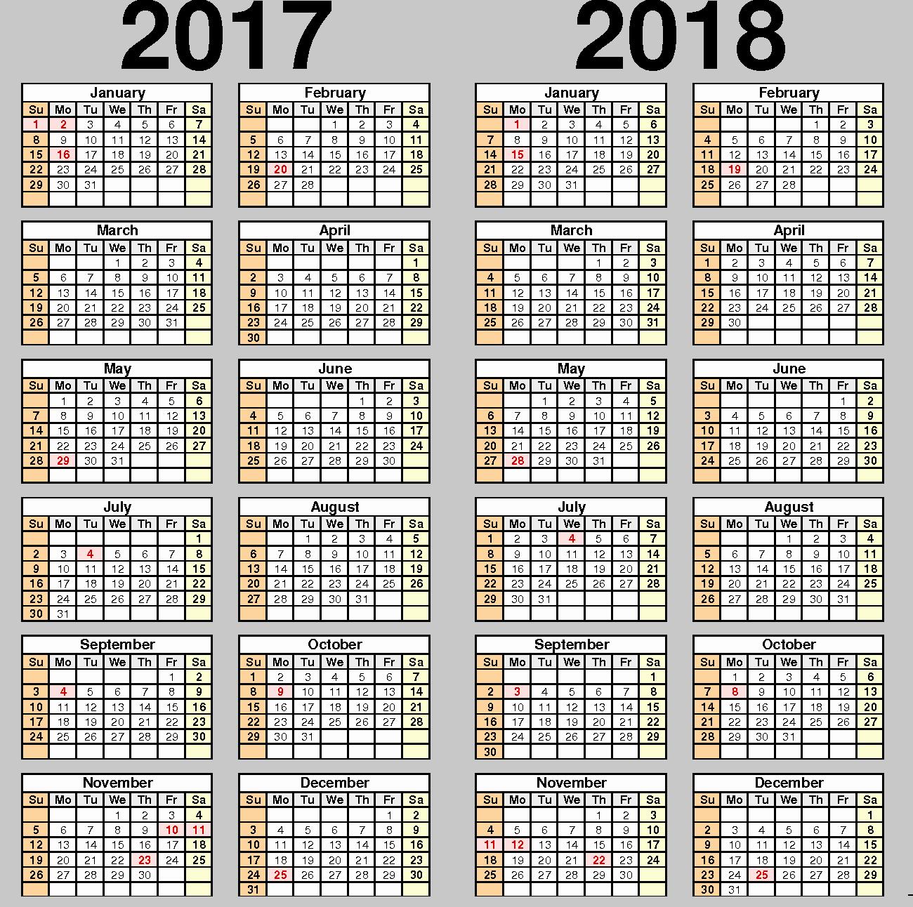 2017-2018 Printable Calendar Inspirational Printable Calendar 2017 2018 School Year