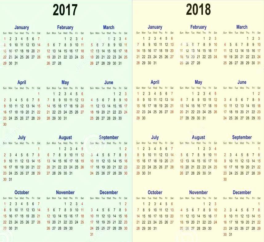 2017-2018 Printable Calendar Lovely Printable Calendar 2017 2018 School Year