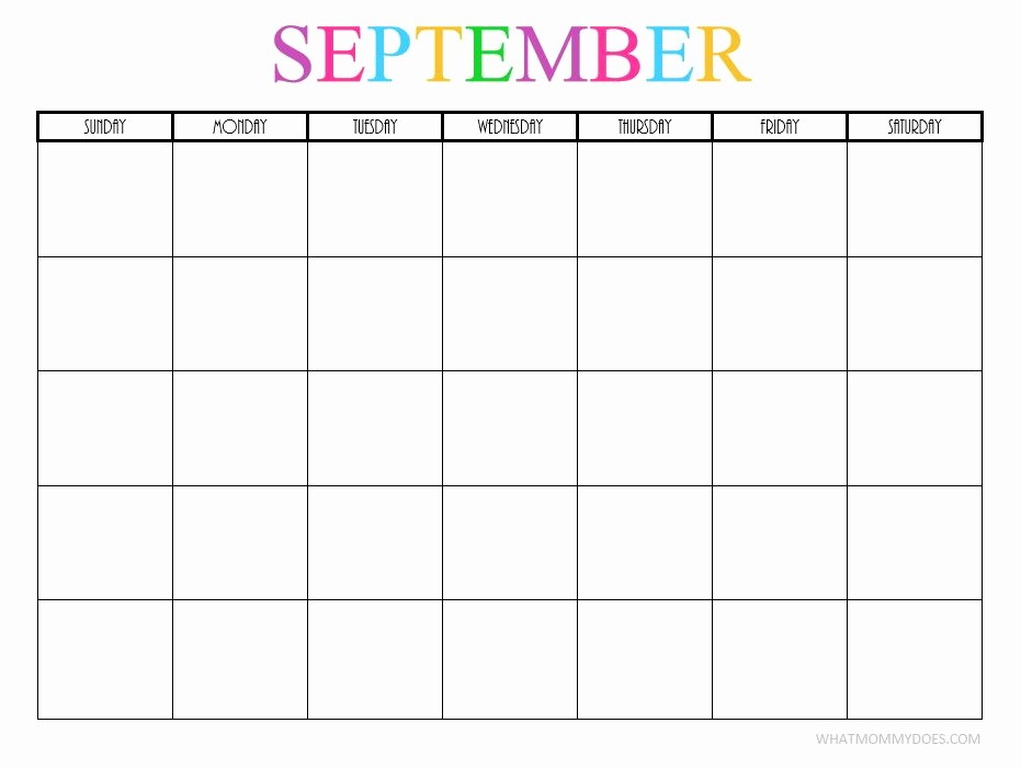 2017-2018 Printable Calendar Luxury Free Printable Blank Monthly Calendars 2017 2018 2019