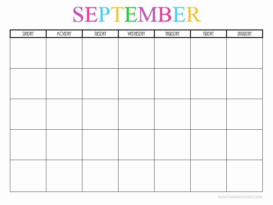 2017-2018 Printable Calendar Luxury Free Printable Blank Monthly Calendars 2017 2018 2019