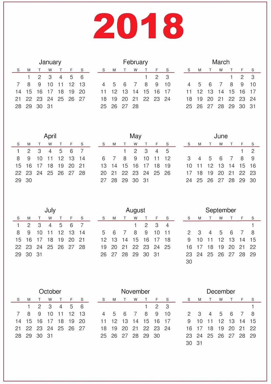 2017-2018 Printable Calendar New 2018 Calendar Printable