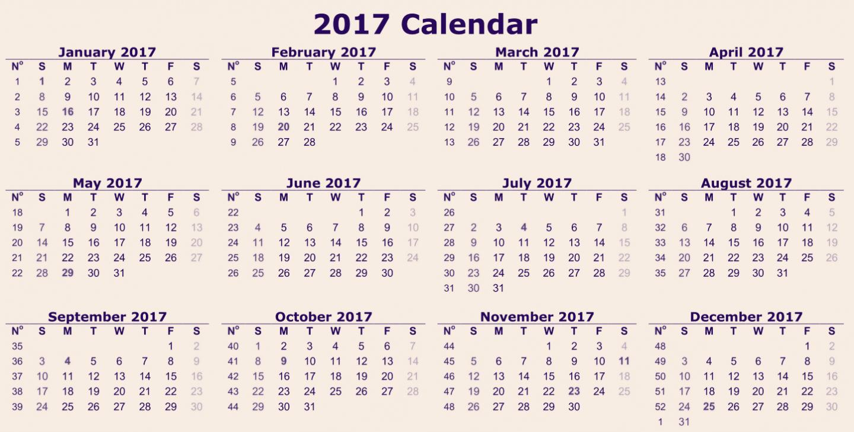 2017 Calendar Month by Month Beautiful 12 Month Calendar 2017