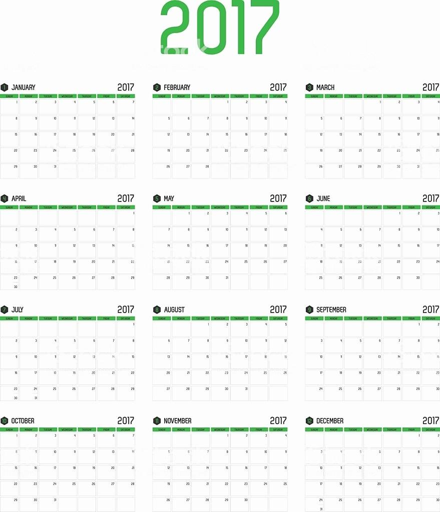 2017 Calendar Month by Month Beautiful Vector Calendar 2017 New Year 12 Month Calendar Set