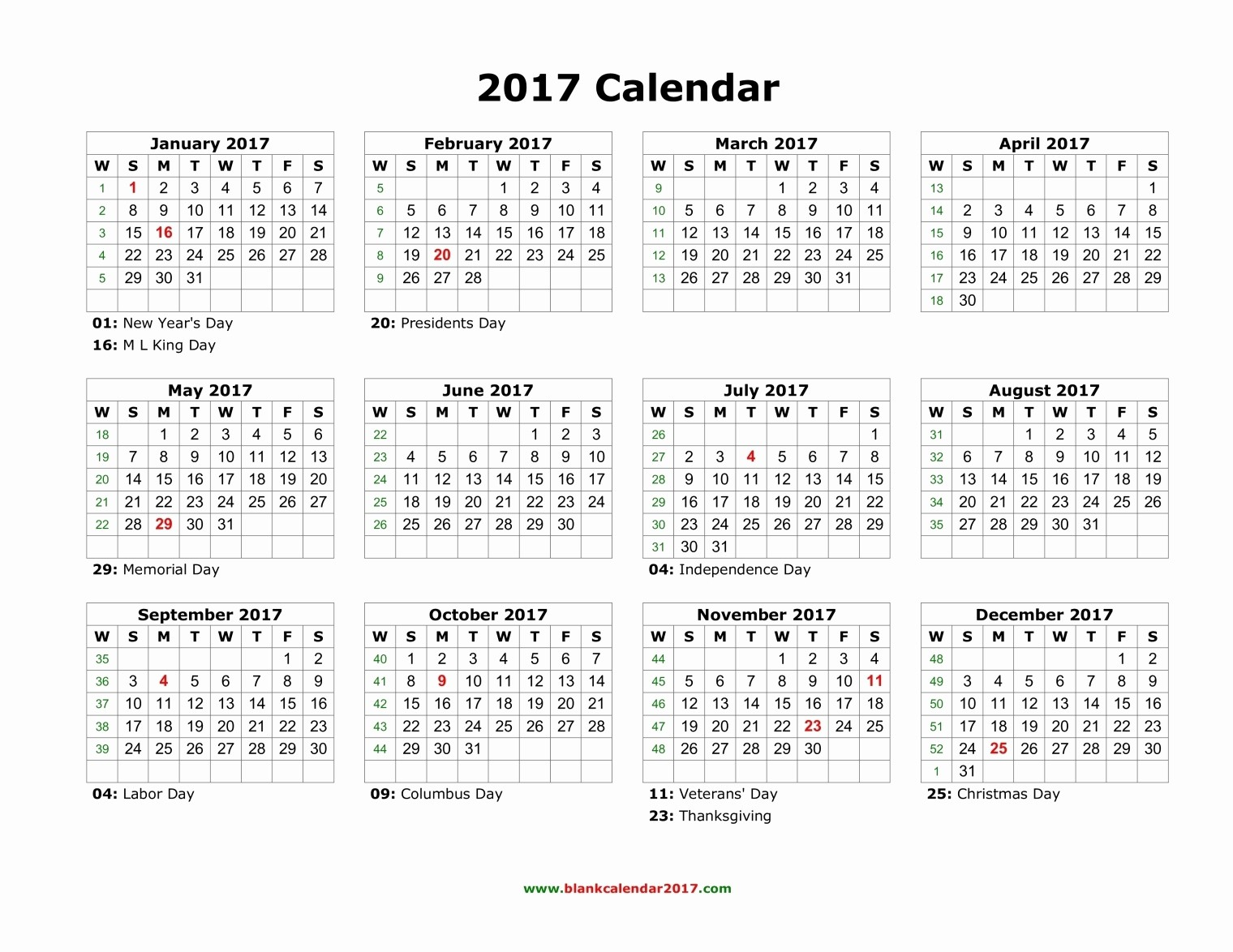 2017 Calendar Month by Month Best Of Blank Calendar 2017