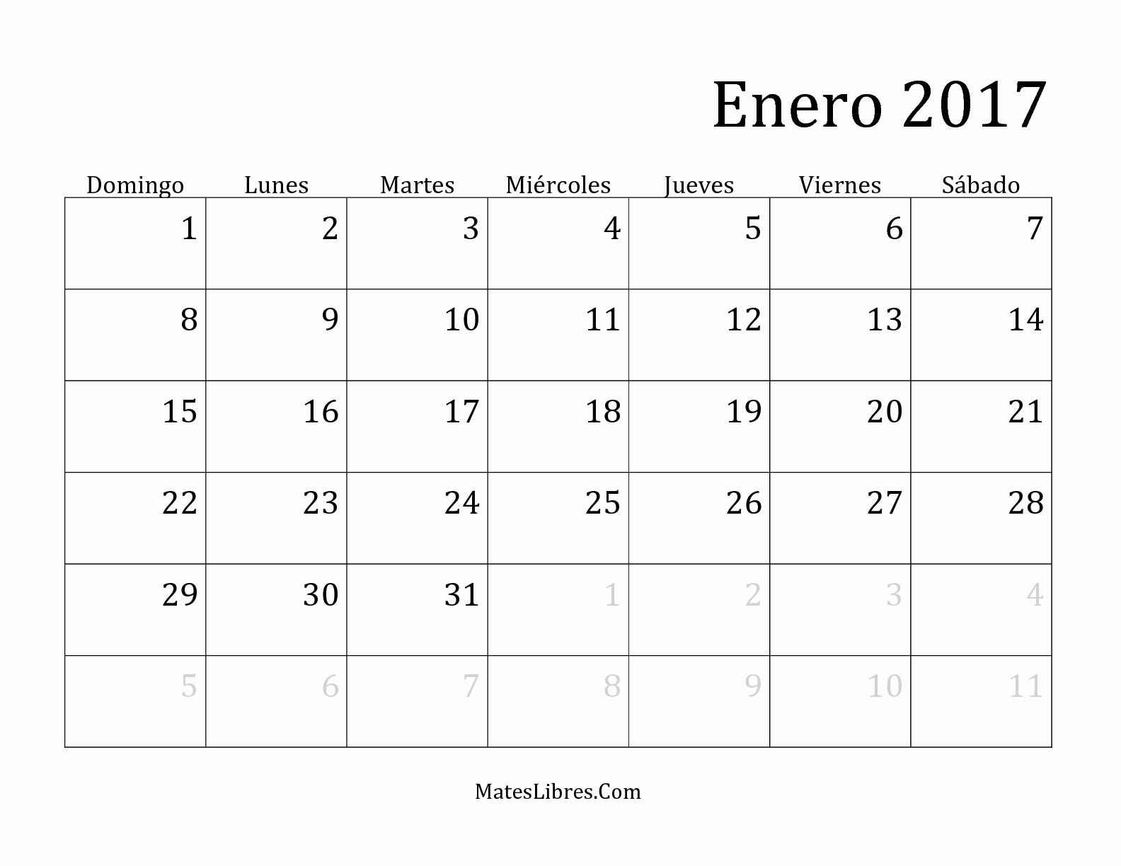 2017 Calendar Month by Month Best Of Calendario Mensual Del 2017 Hoja De Ejercicio De Tiempo