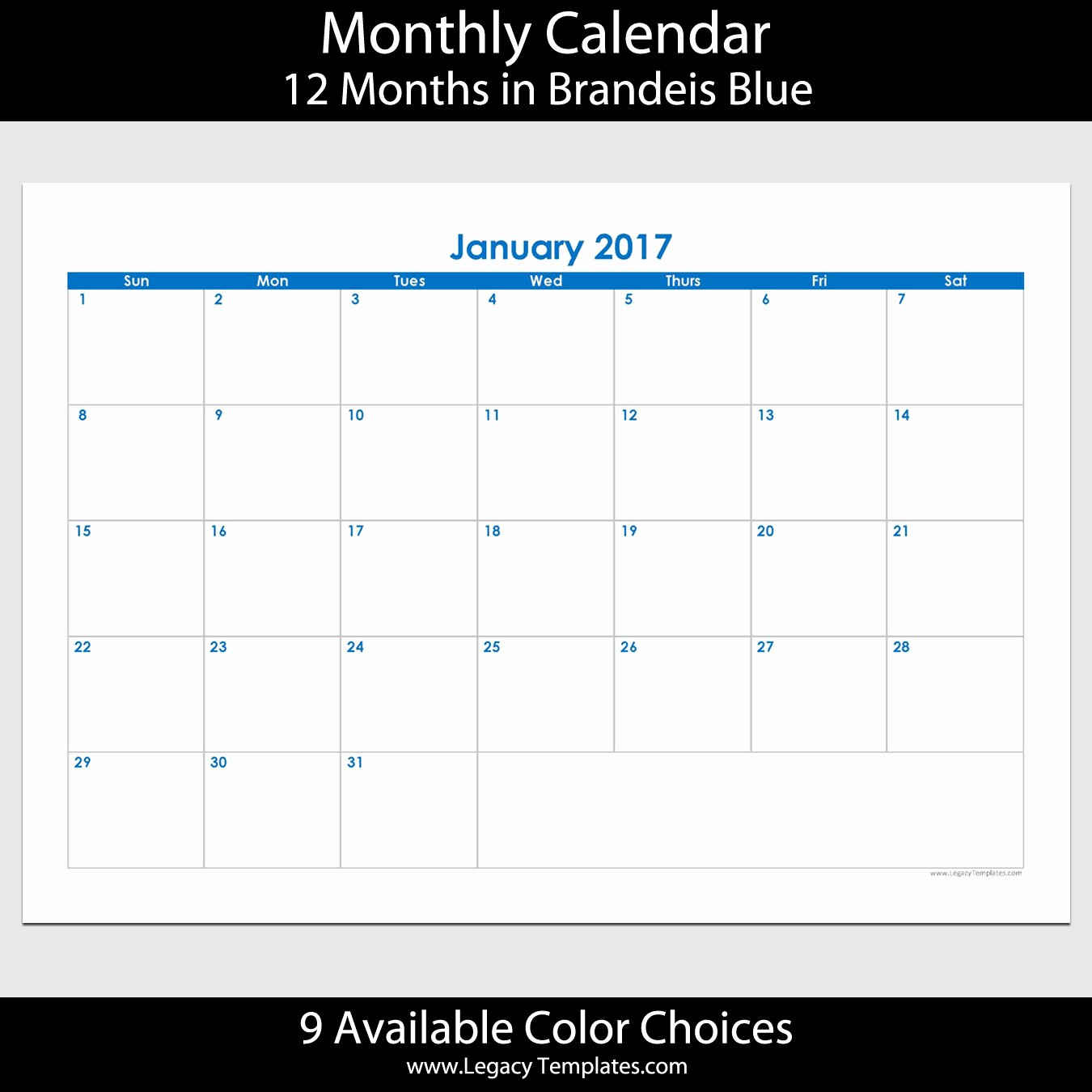 2017 Calendar Month by Month Lovely 2017 12 Month Landscape Calendar – A5