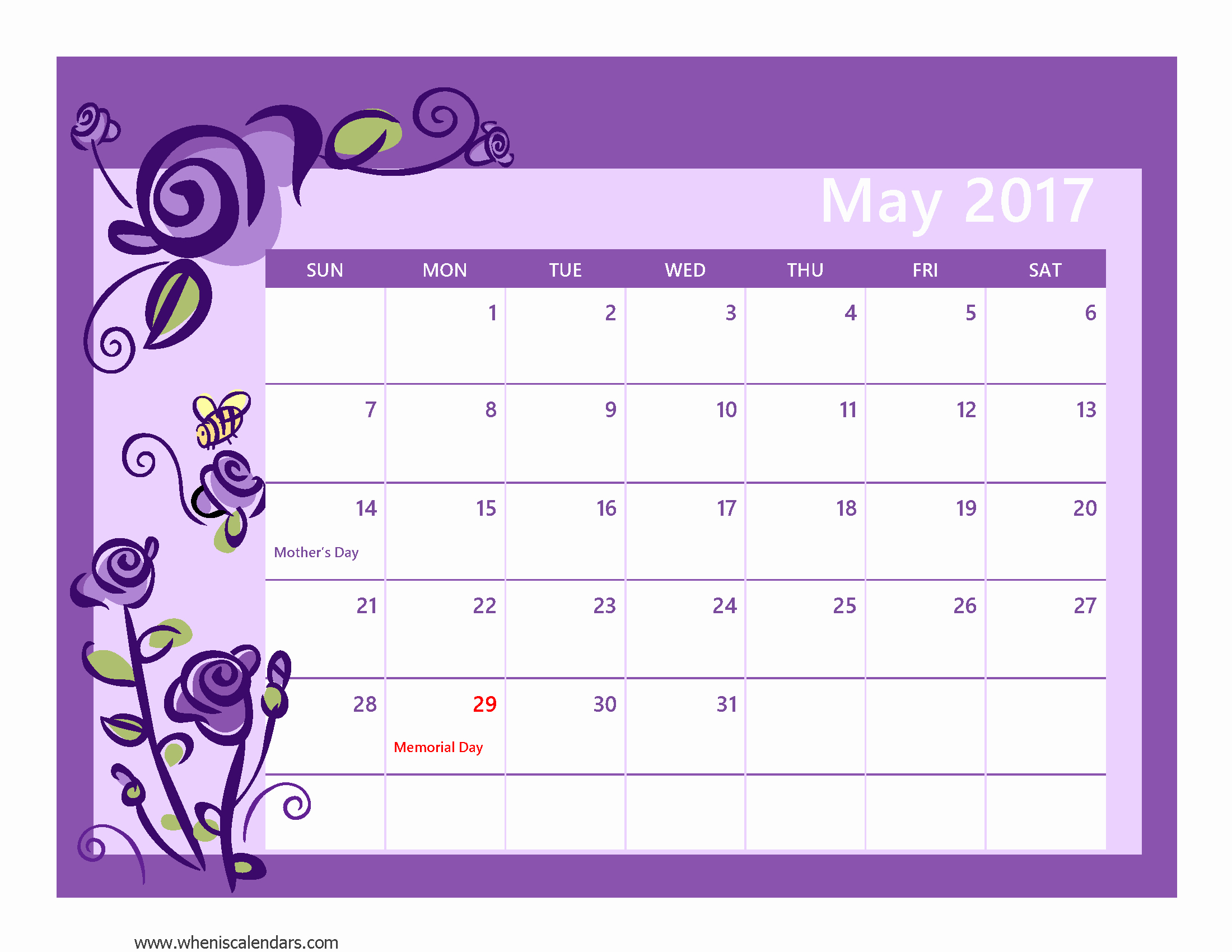 2017 Calendar Month by Month Lovely May 2017 Calendar Pdf