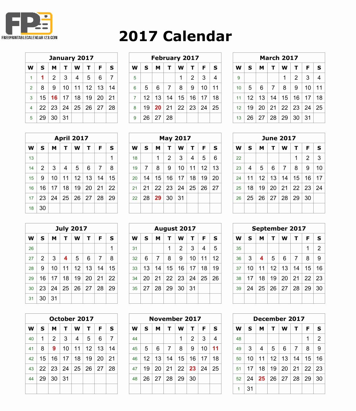 2017 Calendar Month by Month New August 2017 Calendar Pdf