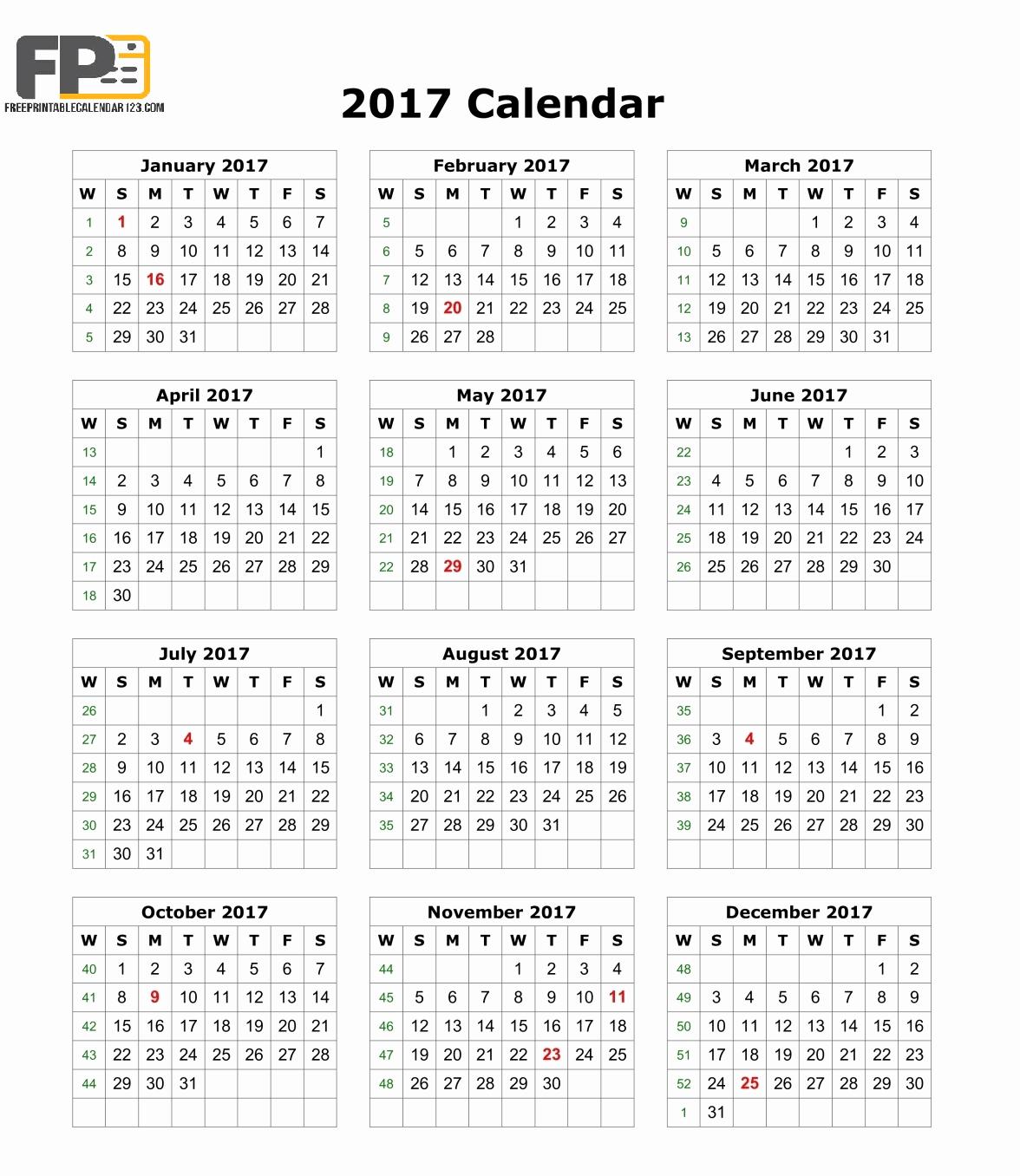 2017 Calendar Month by Month New August 2017 Calendar Pdf