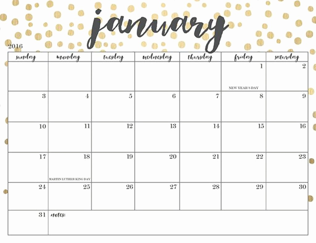 2017 Calendar Template with Notes Beautiful Free Printable January 2017 Calendar Word Pdf Doc Excel